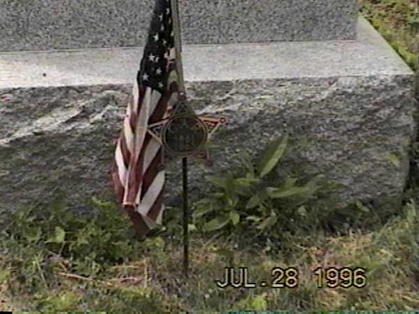 CF Billman Flag & GAR Marker