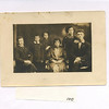 Family picture in Sokolow:  from left to right:  Mendel Feldman, Moishe Velvul Feldman, Surah Rifka Feldman, Chinka Schwartzburt Feldman, Shoshana Feldman, and Fischel Feldman