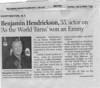 Hendrickson-Benjamin Obituary 2006-07-09 AJC