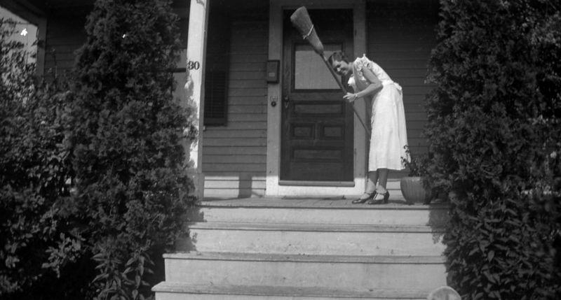 Antique broom