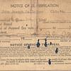 1942 Selective Service Classification notice