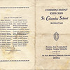1935 St Columba Commencement program, page 1