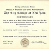 1948 City College of New York Certificate