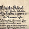 1935 St Columba diploma John Gallagher
