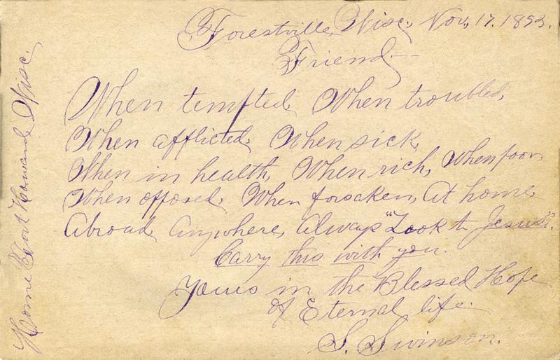 S. Swinson, the Methodist minister who baptized Josephine.
