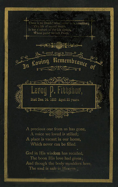 Memory Card for Leroy P. Fittshur