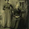 Tintype of Josephine Fittshur & Lydia Davis Fittshur Rockwell