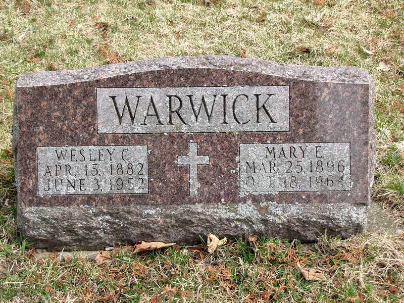 Wesley and Mary (Blasier) Warwick