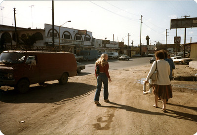 Kerri, Shirley and Barbara- walking the streets of Tijuana