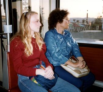 Kerri and Barbara relaxing on the way home from Tijuana