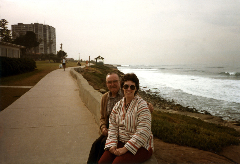 Judy and Great-Uncle Glenn, March 1984
