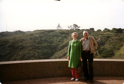 Maureen and Glenn Foote and the Old Point Loma Lighthouse at Cabrillo National Monument