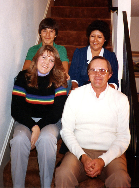 Glenn's son Ronnie and Annette Foote with children Teresa and Richard
