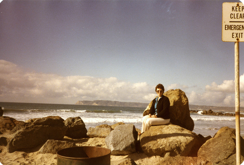 Judy and the Pacific Ocean, March 1984