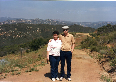Judy and Warren near Kerri and Mark's house at Jamul, CA