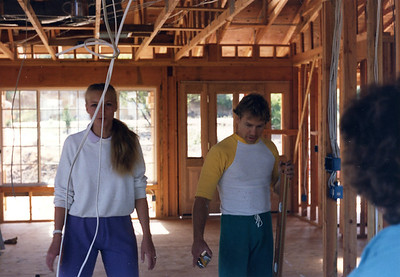 Kerri and Mark working on their new home