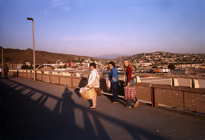 Going home after a loooong day of shopping in Tijuana