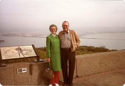 Maureen and Glenn Foote at Cabrillo National Monument, overlooking San Diego