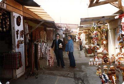 Judy and Barbara shopping at Tijuana