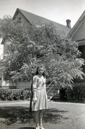Dorothy on 8th grade graduation day, 1942
