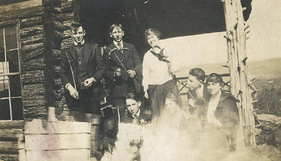 Bill Foote (second from right) with friends