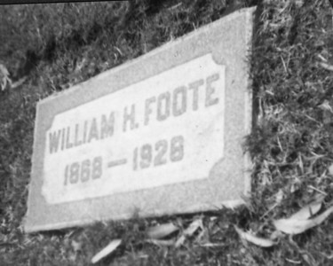 William H. Foote's cemetery marker in San Diego, California.