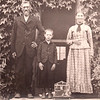 This is an undated photograph of Jehu and Martha (Potter) Milleson.  The boy in this photo is not identified.  Jehu and Phebe were the parents of Eliza Ellen Milleson, who married Elisha Galey in 1884.  The Milleson family is very prevalent throughout much of northern Missouri and southern Iowa.