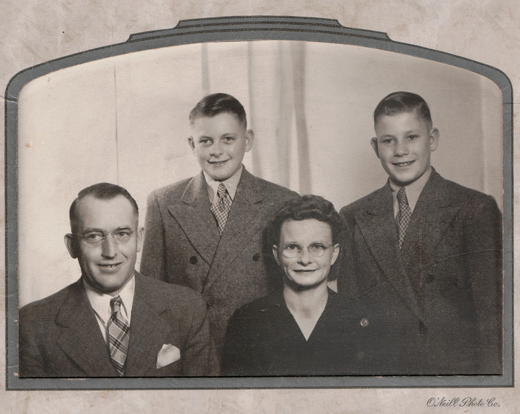 Abe, Roger, Geraldine and Kenny Kritenbrink - Undated