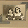 Thanks to Jon Blosser, son of Ivan and Oma (Galey) Blosser, for identifying these two young ladies.  <br /> <br /> The photo is undated, but the girls are the daughters of Mary and Chris Olson (seen above).  Lola Olson is on the left, and her older sister Emma Lou Olson is on the right.<br /> <br /> Regrettably, Lola died of cancer a few years ago.   We understand that Emma Lou still lives in Oregon.