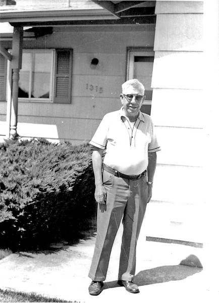 Frank Galey in front of his Woodburn, Oregon, home in June of 1979.