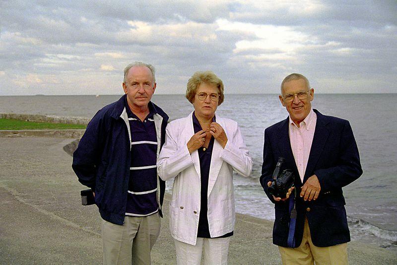 Cousins Henrik, Birthe, and Allen Shafer in 1992.
