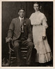 Photo taken on June 29, 1907 in Rankin, Mississippi. Wedding Photo of Richard Allen Gray and Annie Vituria Myers.  The family story tells that Annie and Richard slipped away to one of Richard's older brother's home to marry since she was only 14 years old. Annie was fearful that she would not receive permission from her step-father and mother. Note that Annie's step-father was also Richard's father, so in essence, brother and step-sister married. Annie's father had died a few years before and her then widowed mother married Richard's father, Robert Miles Gray. Kind of a strange story, but true.