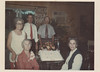 "April 18, 1974:  Willie Belle Bowen McGee's Birthday Party.  <br /> Sitting:  Willie Belle Bowen McGee, Hazel Dean McGee Tubbs.<br /> Standing: Thelma ""Puddin"" McGee Kelley, George McGee, Hugh McGee."