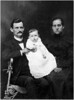 Walter Diggs Gean Family 1900<br /> <br /> Walter, Roxie and infant.<br /> Child is Albert Dhu, born Sept 26,1900<br /> Picture date about Christmas, 1900?