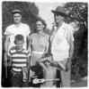 back: Vernon Denzil Sparks; Alberta Gean (Bell) Walter Diggs Gean...front: Michael Gean Sparks; Ralph Vernon Sparks DATE: ca 1955