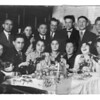 A social group of friends in Sokolov Podlaski Back: From Left to Right: Hyman Kawer; fourth from left - Yankel Kawer (Hyman's oldest brother  Back: third from right: Herschel Madeinsky (came to Chicago and involved in Sokolover Verein; Second from right: worked for Hyman's father when he was a child).    Front: from left: Rifka Kawer (Hyman's oldest sister) and child Yitshak.   Front; from right: third from right - Ester Shulevetch friend