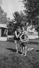 Loraine with her Mom and Dad at the Lake about 1926