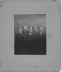 Photo of Murray Reed (center) from Ohio Wesleyan University about 1897 , age 20