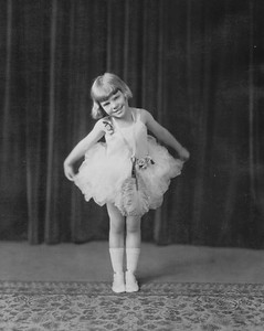 Loraine McVicar about 1926 in dance costume