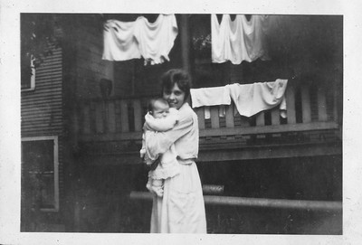 Loraine McVicar with mother at about 3 months old