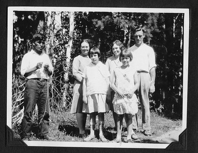 Burntside Lodge, Ely, MN, Frank, Louise, and Loraine on vacation