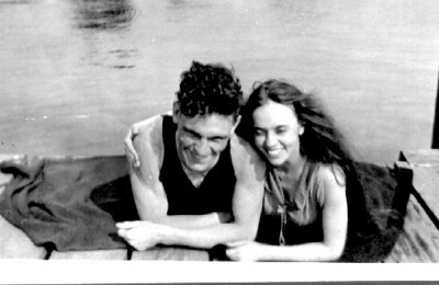 Frank and Louise McVicar on their honeymoon, 1919