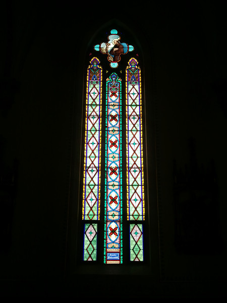The Böckenstedt Family window in St. Boniface Church, New Vienna, IA.
