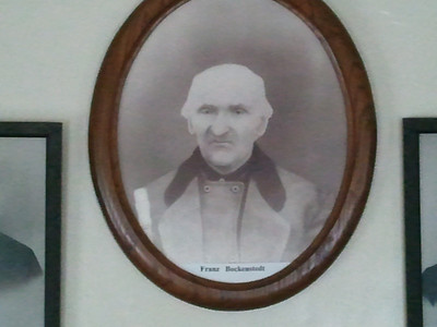 A photo of the portrait in the Böckenstedt family room of the New Vienna Historical Society