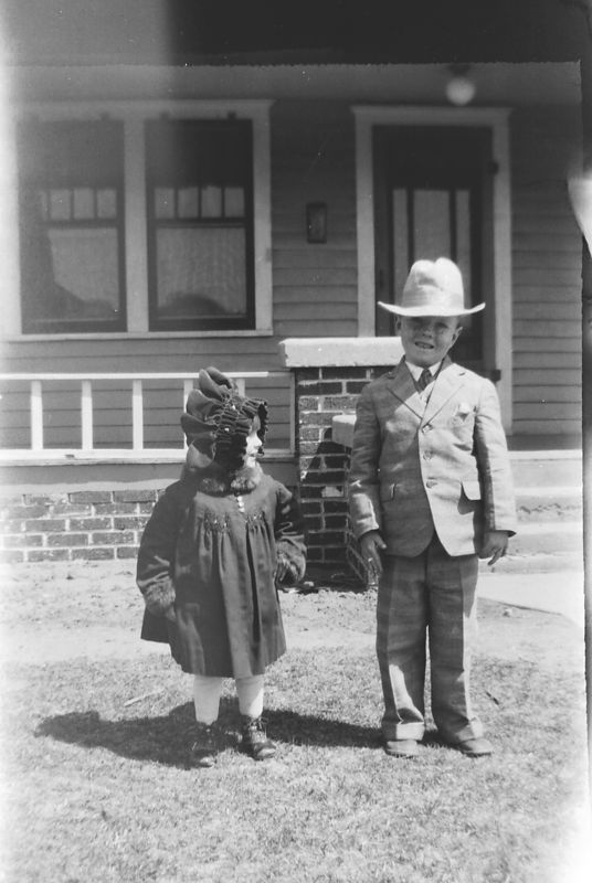 Goldie Gladys and Ernest Glines, Clifford Glines' children.