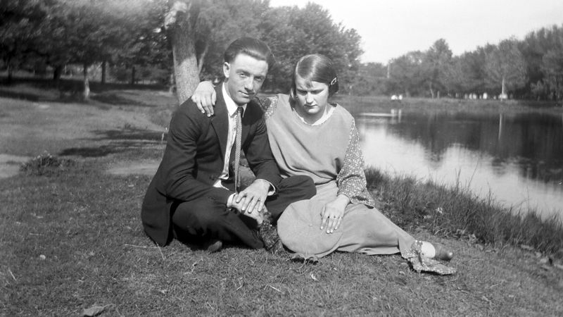 This is a picture of George Herbert Glines and Ada Wilma Griffith.  This picture may have been taken soon after their marriage, ca. spring 1925.
