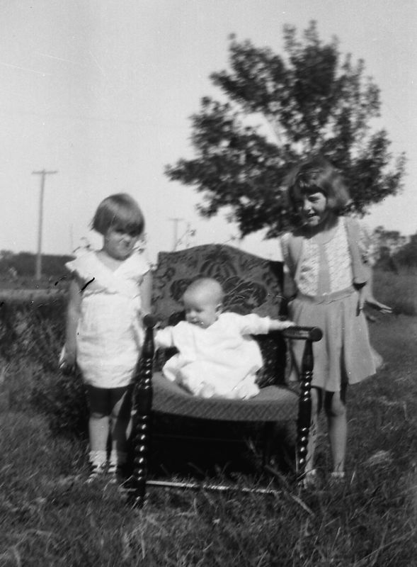 Dorothy, Herb and Helen Glines ca. 1930 ?