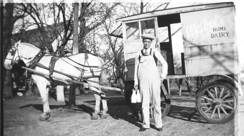 Grandpa (George) Glines with his milk truck.