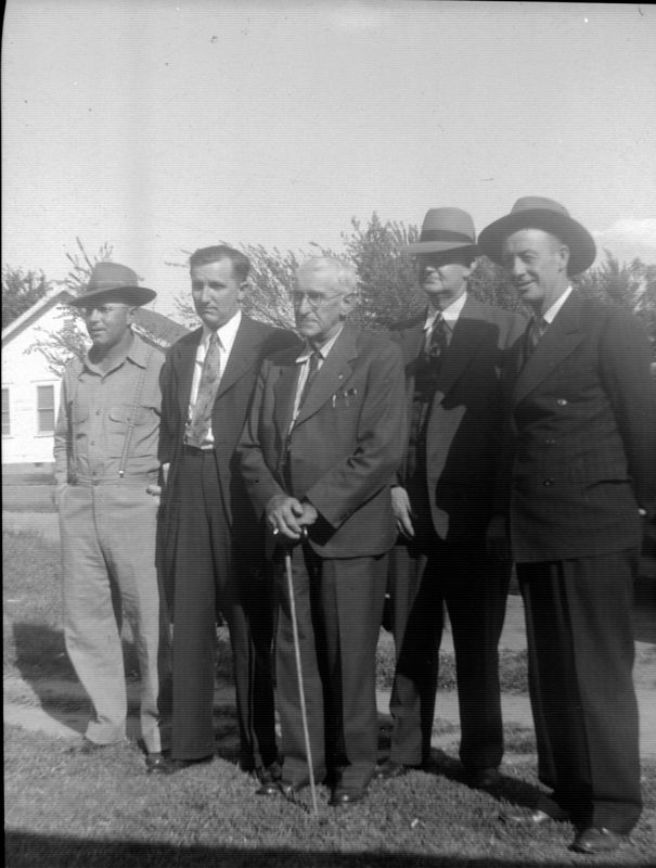 Earnest Culver (?), Lorin Griffith, Joseph Griffith, Harry Griffith and George Glins.