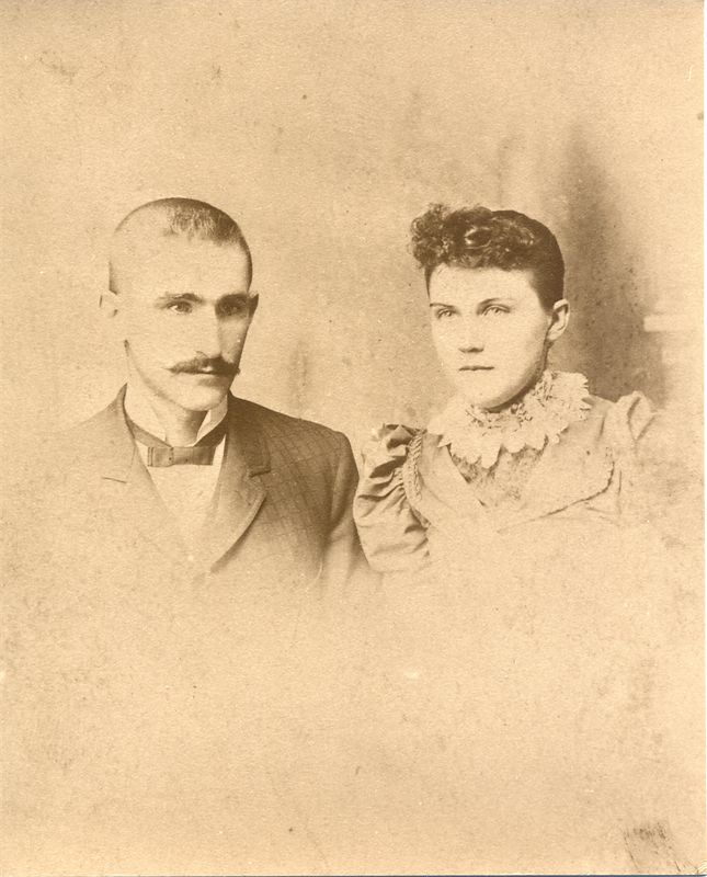 This is Joseph Jefferson Griffith and Frances Ann Lowe - this may be their wedding portrait.